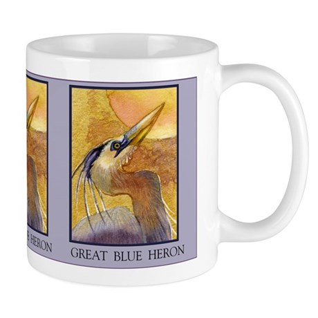 Gold Moon Heron Mug