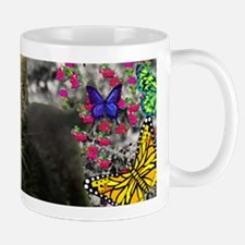 Emma the Gray Kitty in Butterflies I Mug