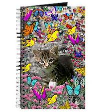 Emma Tabby Kitten in Butterflies Journal