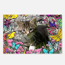 Emma Tabby Kitten in Butt Postcards (Package of 8)