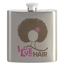 I Love My Hair Flask
