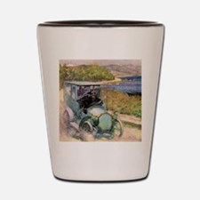 Antique Sunday Drive by the Sea Shot Glass
