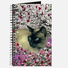 Stella Siamese Cat in Flowers I Journal