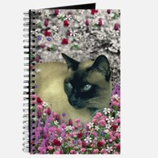 Stella Chocalate Point Siamese Flowers Journal
