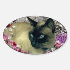 Stella Siamese Cat in Flowers I Decal