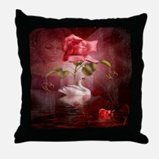 ladies full shirtd Throw Pillow