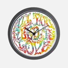 all-need-love-513-tdye-T Wall Clock