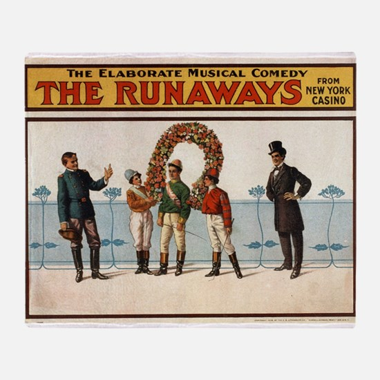 The runaways 2 - US Lithograph - 1908 Throw Blanke