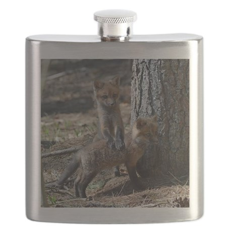 3x3_bear also glass Flask