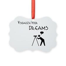 visualize your dreams black teles Ornament