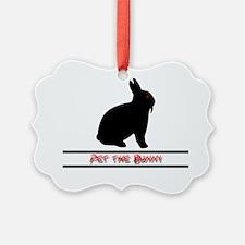 Pet the Bunny Ornament