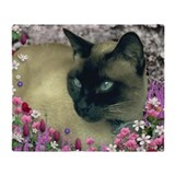 Blue point siamese cat Fleece Blankets