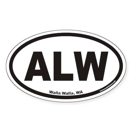 Walla Walla ALW Euro Oval Sticker