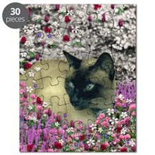 Stella Chocolate Point Siamese Flowers Puzzle