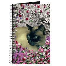 Stella Chocolate Point Siamese Flowers Journal