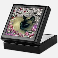 Stella Chocolate Point Siamese Flower Keepsake Box