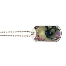 Stella Chocolate Point Siamese Flowers Dog Tags