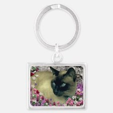 Stella Chocolate Point Siamese  Landscape Keychain