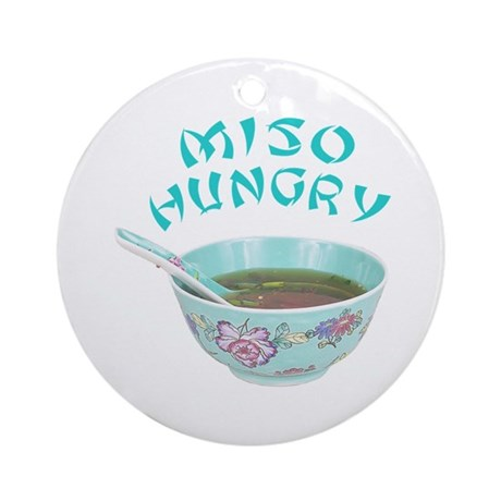 Miso Hungry Round Ornament