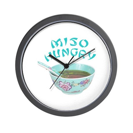 Miso Hungry Wall Clock