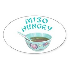 Miso Hungry Oval Decal
