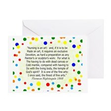 nursing student FG blanket Polka Greeting Card