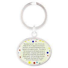 nursing student FG blanket Polka Oval Keychain