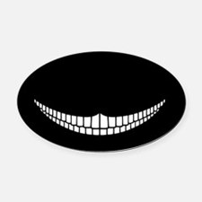 cheshire-grin-OV-OV Oval Car Magnet