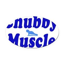 chubby muscle blue1 Oval Car Magnet