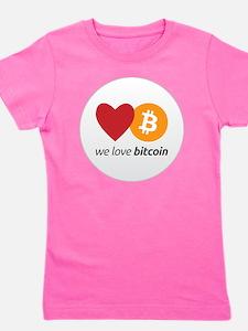 we love bitcoin Girl's Tee
