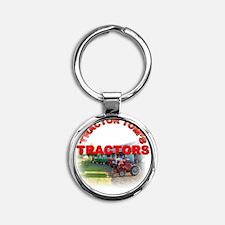 Tractor Toms Tractors Round Keychain