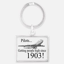 Jet Getting high since 1903 Landscape Keychain