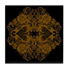 Caramel Pattern Tile Coaster