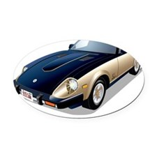 Japanese 280ZX Anniversary Oval Car Magnet
