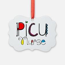 PICU Nurse Doodle Font Ornament