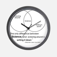 Mythbusters Science Quote Wall Clock
