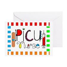 PICU Nurse Blanket Greeting Card