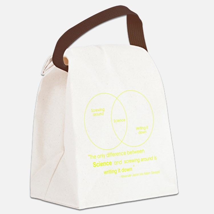 Mythbusters Science Quote (yellow Canvas Lunch Bag