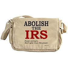 Abolish the IRS (Power corrupts) Messenger Bag