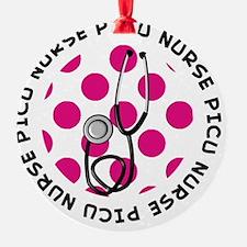 PICU Nurse round pendant 1 Ornament