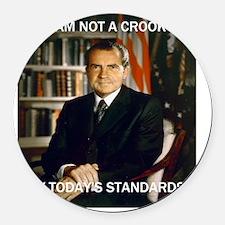 i am not a crook Round Car Magnet