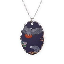 Tropical African Paradise Necklace Oval Charm