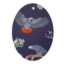 Tropical African Paradise Oval Ornament