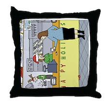 coffeeholidayhorz Throw Pillow