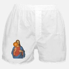 Jesus Christ Basketball Star Boxer Shorts