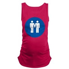 Man on Man Love in Blue Maternity Tank Top