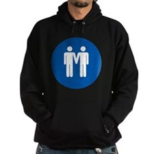 Man on Man Love in Blue Hoodie