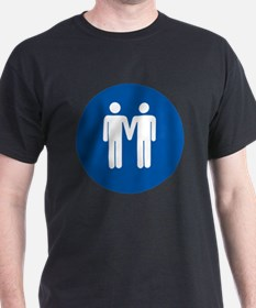 Man on Man Love in Blue T-Shirt
