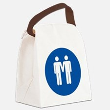 Man on Man Love in Blue Canvas Lunch Bag