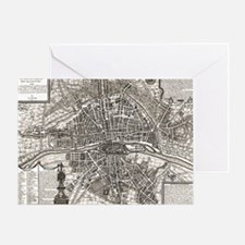 Paris Map 1643 Greeting Card